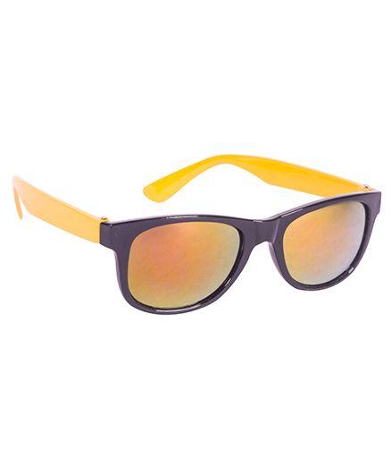 Glucksman Classic Wayfarer Kids Sunglass - Yellow Black