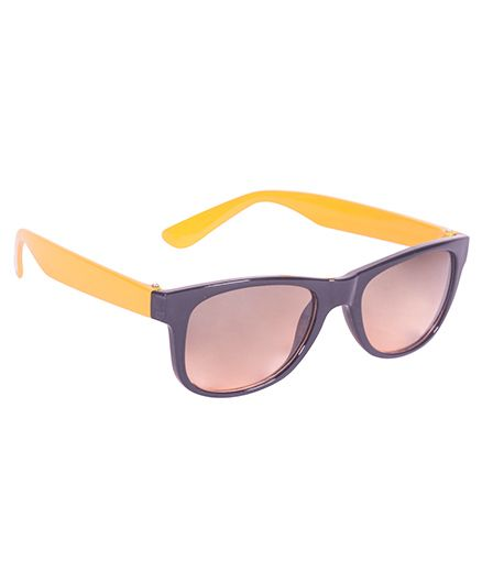 Glucksman Classic Wayfarer Kids Sunglass - Yellow Brown