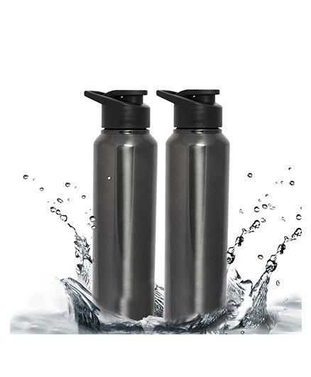 Pexpo Chromo Water Bottle With Steel Cap Green - 750 ml