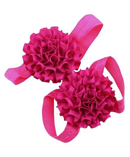 Akinos Kids Flower Walker Barefoot Sandal - Fuschia Pink