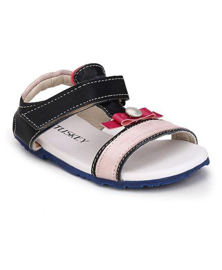 Tuskey Sandals Velcro Closure - Pink & Black