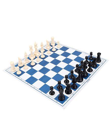 Ratnas World Champion Chess Ivory - Blue Black White
