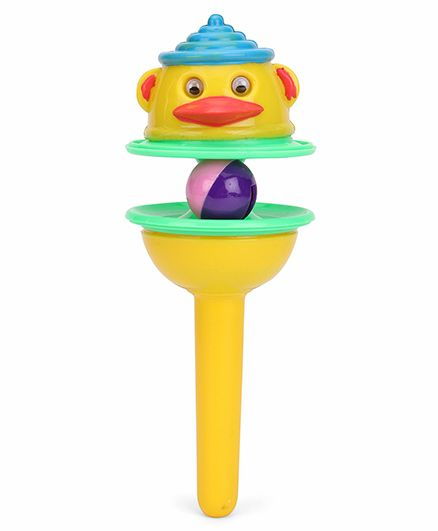 Ratnas Lolly Pop Rattle - Yellow Green
