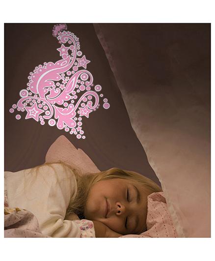 Home Decor Line Glow In Dark Fairies Wall Sticker - Pink Navy