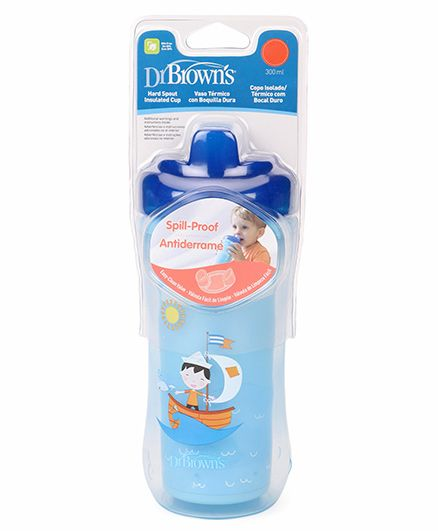Dr. Browns Hard Spout Insulated Cup Stage 3 Blue - 300 ml
