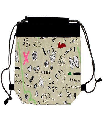 Kadam Baby Drawstring Bag Black - 13 Inches