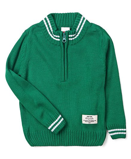 Babyhug Full Sleeves Pullover Sweater - Green