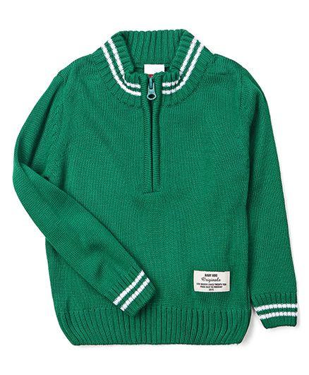 Babyhug Full Sleeves Pullover Sweater - Green