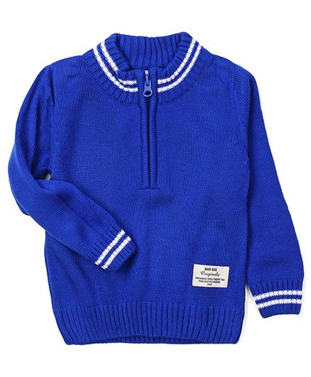 Babyhug Full Sleeves Pullover Sweater - Royal Blue