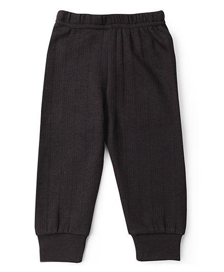 Babyhug Solid Color Thermal Wear Bottoms - Dark Grey