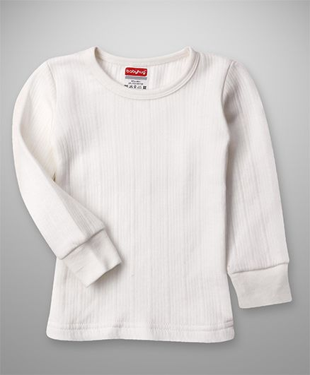 Babyhug Solid Color Pullover Thermal Vest - Off White