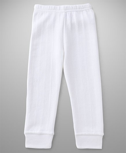 Babyhug Thermal Wear Bottoms - Off White