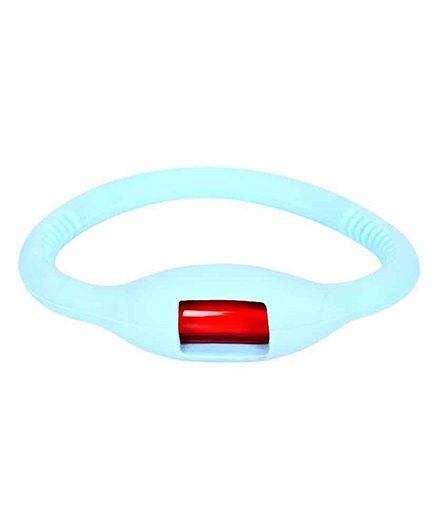 Safe-O-Kid Reusable Flexi Glow In Dark Mosquito Repellent Band - Light Blue
