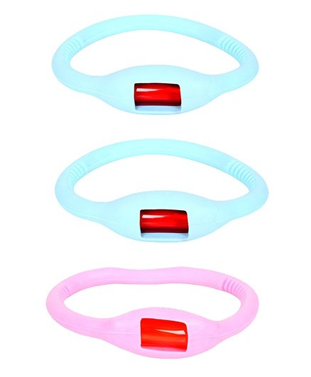 Safe-O-Kid Glow In Dark Mosquito Repellent Band Blue & Pink - Pack Of 3