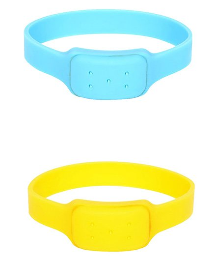 Safe-O-Kid Watch Style Mosquito Repellent Bands Pack Of 2 - Blue Yellow