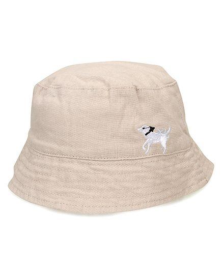 Little Wonder Dog Embroidered Hat - Cream
