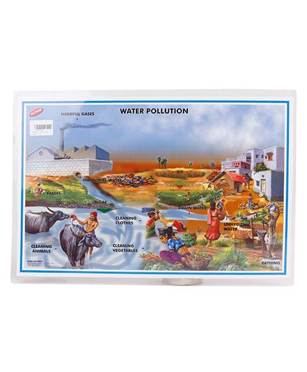 Alpaks Table Mat With Water & Air Pollution Print - Multi Color