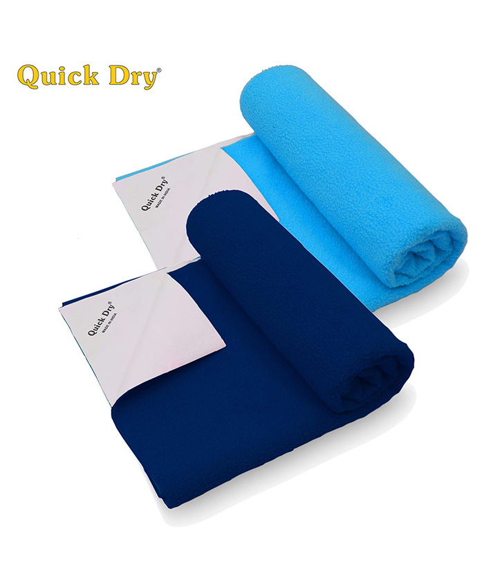 Quick Dry Bed Protector Twin Pack Small - Cobalt & Feeroju