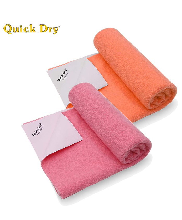 Quick Dry Bed Protector Twin Pack Medium - Salmon Rose & Peach