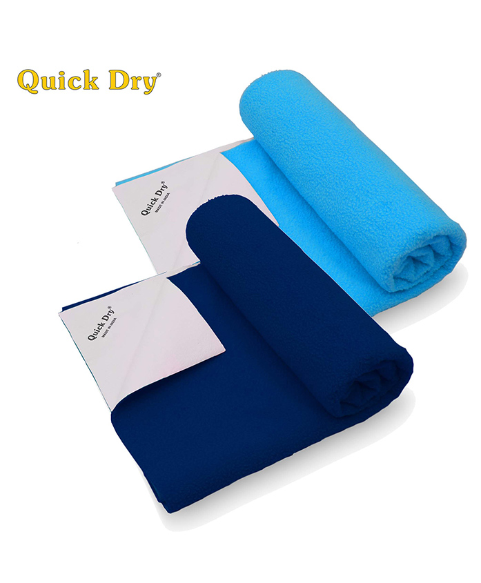 Quick Dry Bed Protector Twin Pack Medium - Cobalt Feeroju