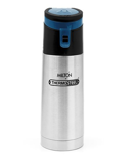 Milton Thermosteel Acme Insulated Bottle Grey Blue - 400 ml