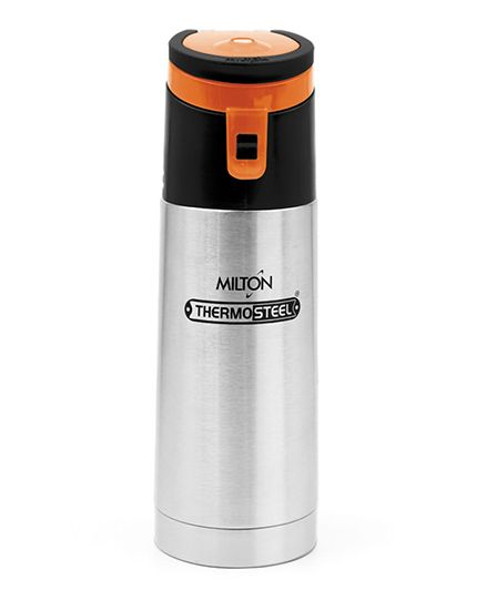 Milton Thermosteel Acme Insulated Bottle Grey Orange - 400 ml