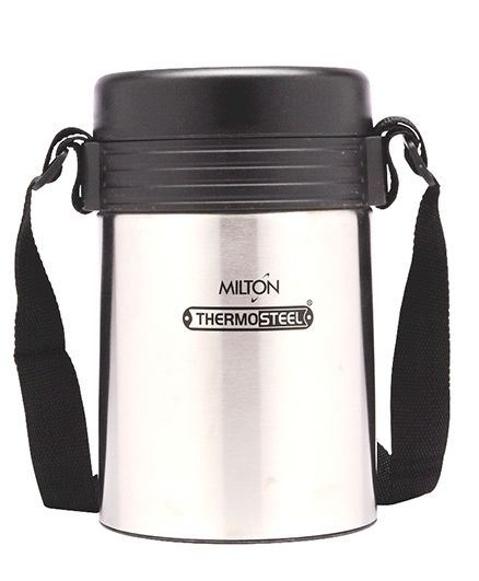 Milton Tuscany Thermosteel Insulated Lunch Box - Black Silver