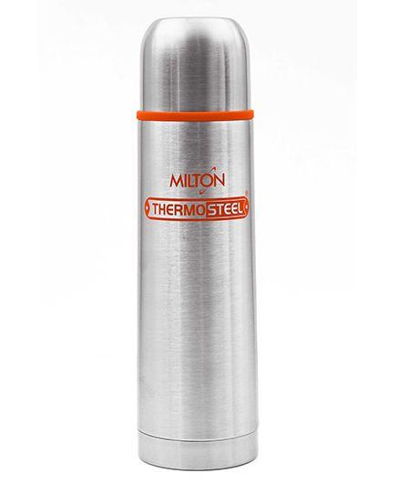 Milton Thermosteel Flip Lid Flask Orange Silver - 500 ml