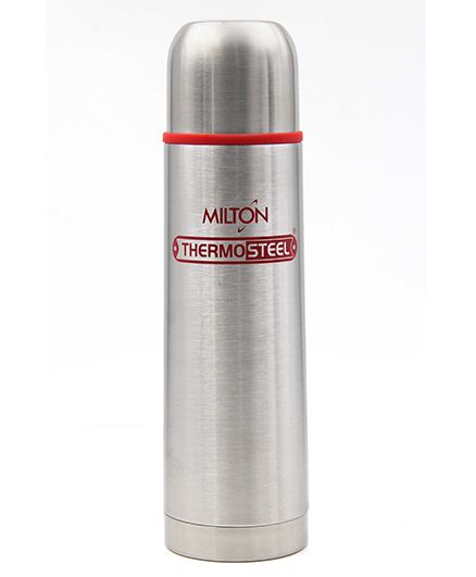 Milton Thermosteel Flip Lid Flask Red Silver - 500 ml