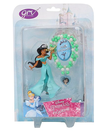 Disney Princess Jasmine Figurine With Necklace - 10.5 cm