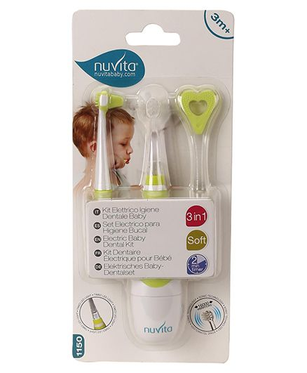 Nuvita Baby Dental Kit Pack Of 3 - Green