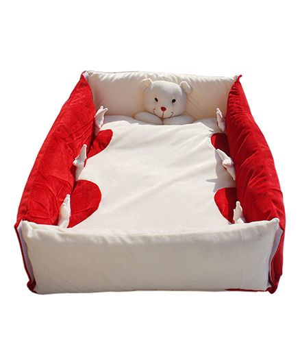 Amardeep Baby Bedding Set Cum Play Mat - Red White