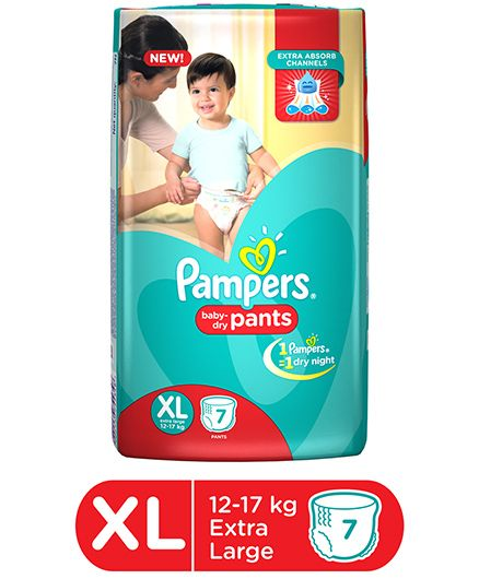 Pampers Pant Style Diapers Extra Large - 7 Pieces