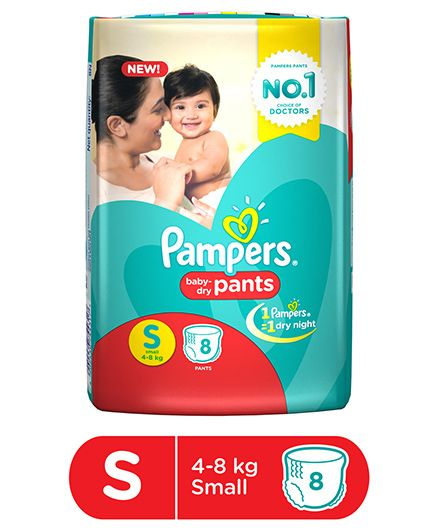 Pampers Pant Style Diapers Small - 8 Pieces