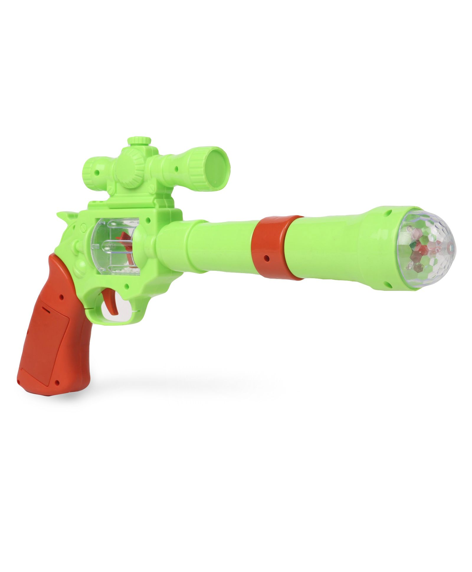 Playmate Pirate Gun With Light And Sound - Green Dark Orange