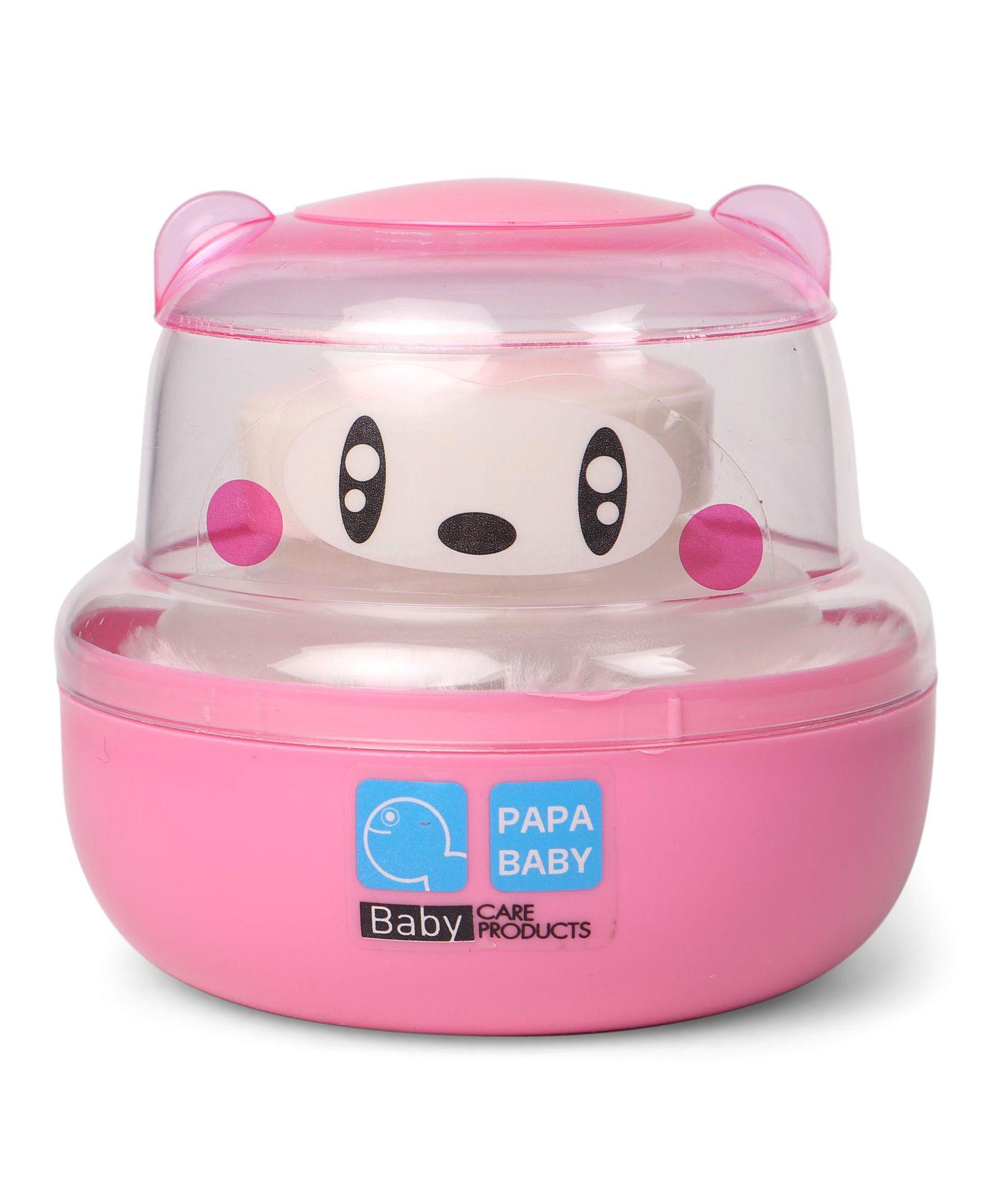 Papa Baby Powder Puff Panda Face Design - Pink