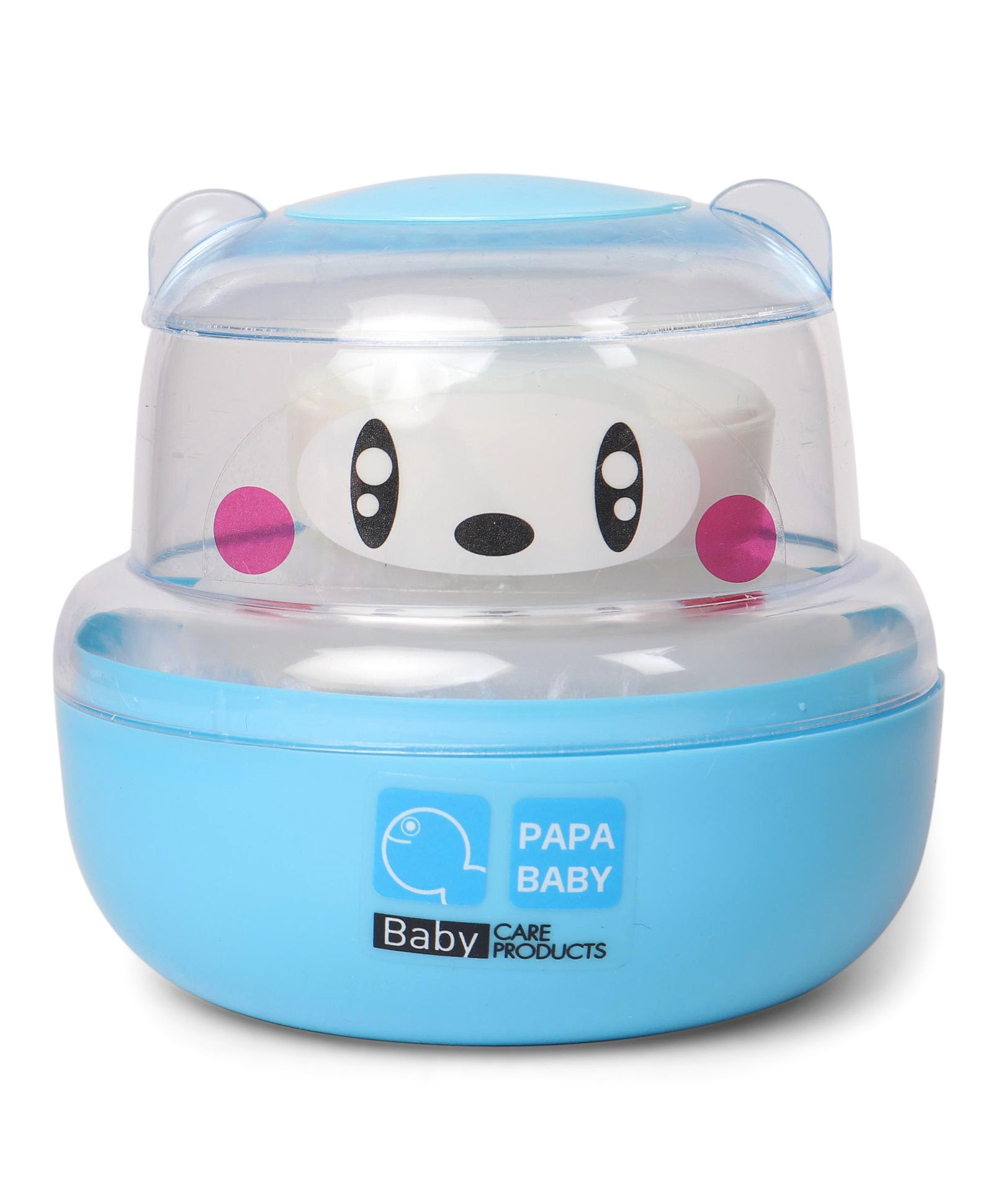 Papa Baby Powder Puff Panda Face Design - Blue