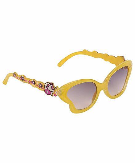 Miss Diva Smart Butterfly Sunglasses - Yellow
