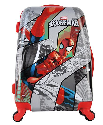 Marvel Spiderman Kids Luggage Trolley Bag - 20 inches