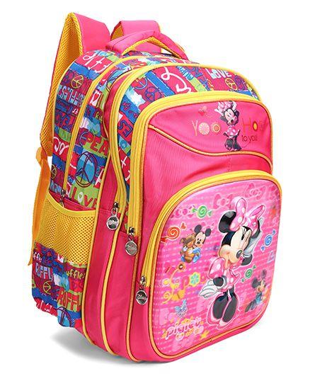 Disney Minnie Mouse School Bag Pink - 18 inch