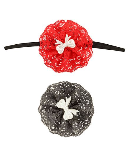 Funkrafts Flower Hair Clip Headband Combo Set Of 2 - Multicolour