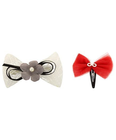 Funkrafts Combo Set Of 2 Hair Clips - Multicolor