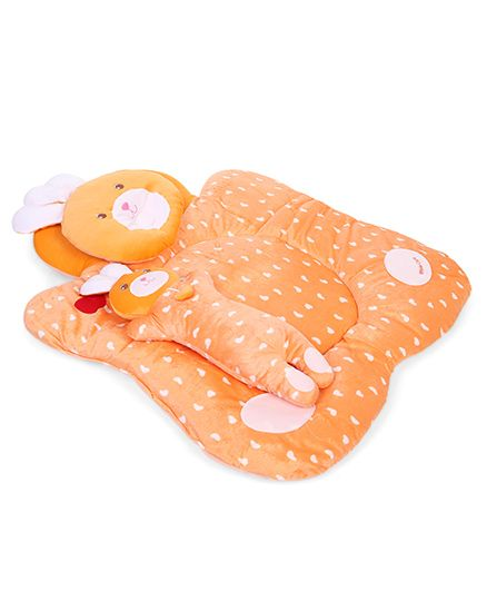 Baby Bedding Set Bunny Design Set Of 3 - Orange