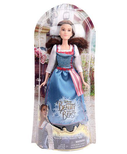 Disney Princess Beauty And The Beast Village Dress Blue - Height 26 cm