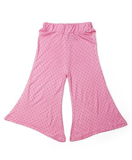 Babyhug Full Length Dotted Pallazo - Pink