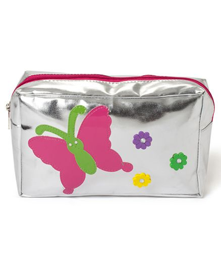 LiLl Pumpkins Pack Of 6 Butterfly Printed Multipurpose Kit - Silver