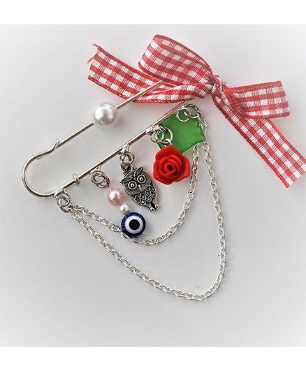Bobbles & Scallops Trendy Safety Pin - Multicolour