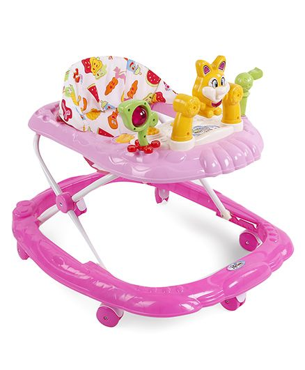 Rabbit Face Musical Baby Walker - Pink