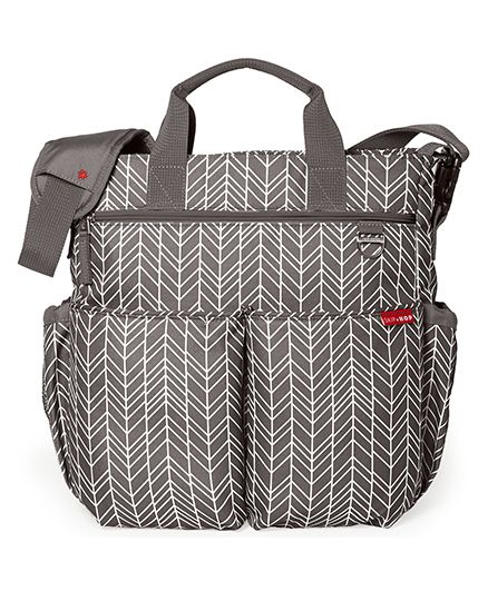 Skip Hop Duo Signature Diaper Bag With Portable Changing Mat - Grey