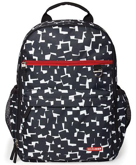Skip Hop Duo Signature Diaper Backpack Cubes Design - Black White